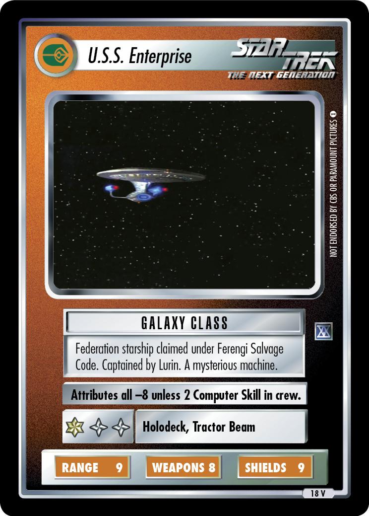 U.S.S. Enterprise (20th Anniversary)