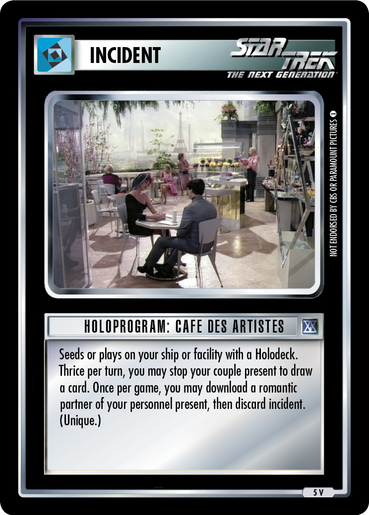 Holoprogram: Cafe des Artistes