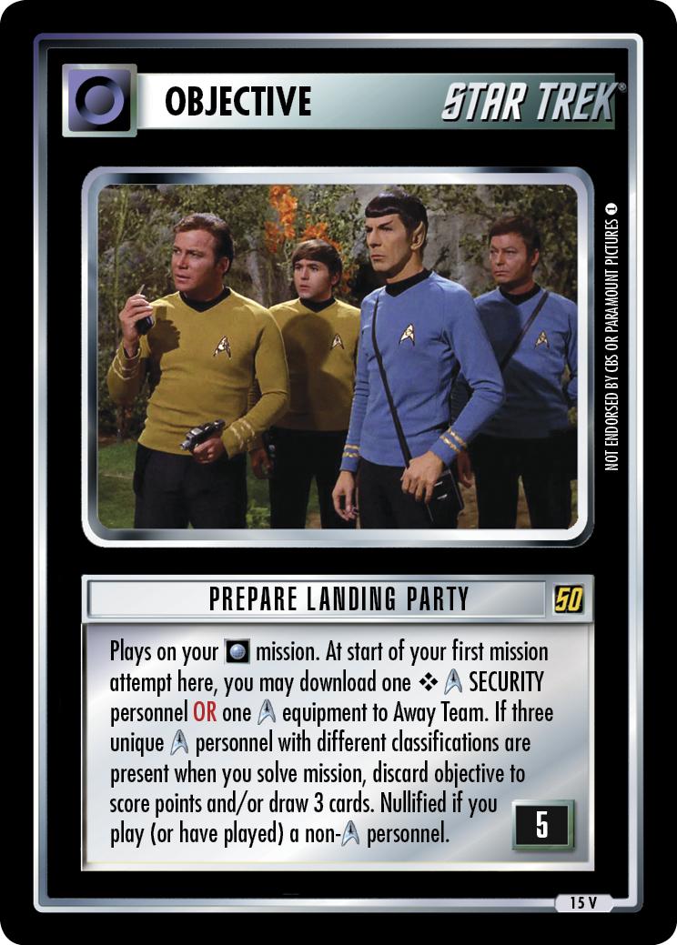 Prepare Landing Party