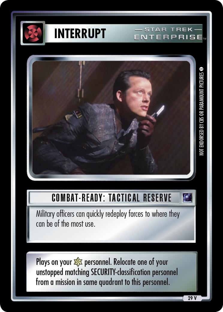 Combat-Ready: Tactical Reserve