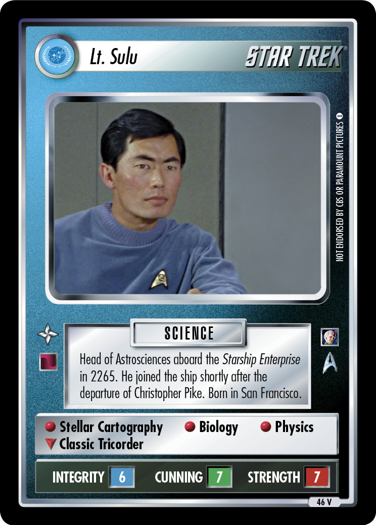 Lt. Sulu (The Cage)