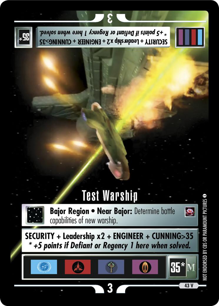 Test Warship