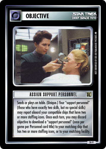 Assign Support Personnel