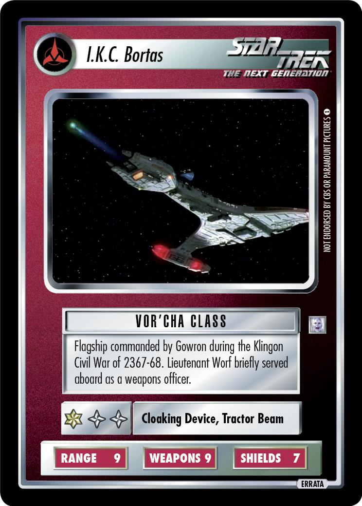 Ships Klingon BB Rare TohВ'Kaht I.K.C Star Trek CCG Deep Space Nine