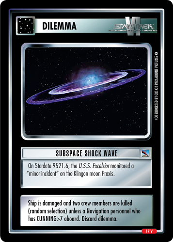 Subspace Shock Wave
