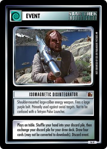 Isomagnetic Disintegrator