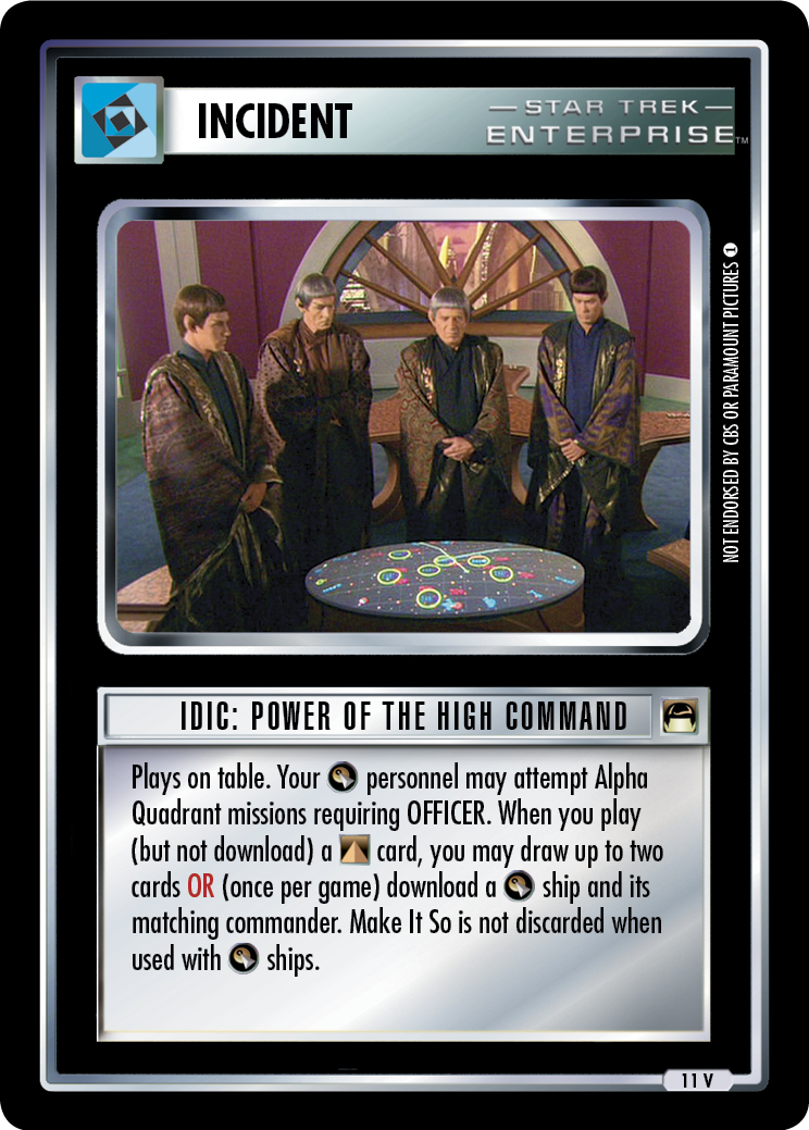 IDIC: Power of the High Command
