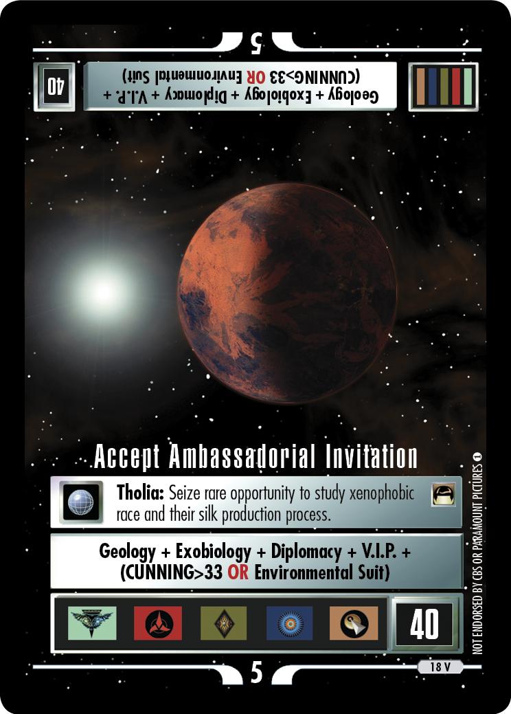 Accept Ambassadorial Invitation
