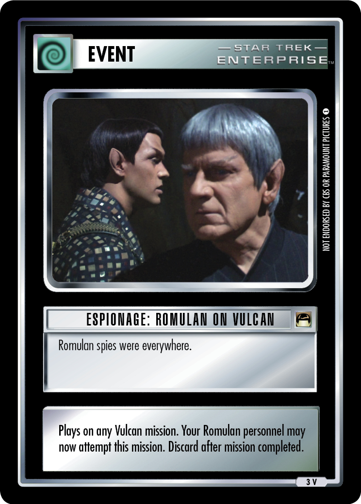 Romulan spies were everywhere.