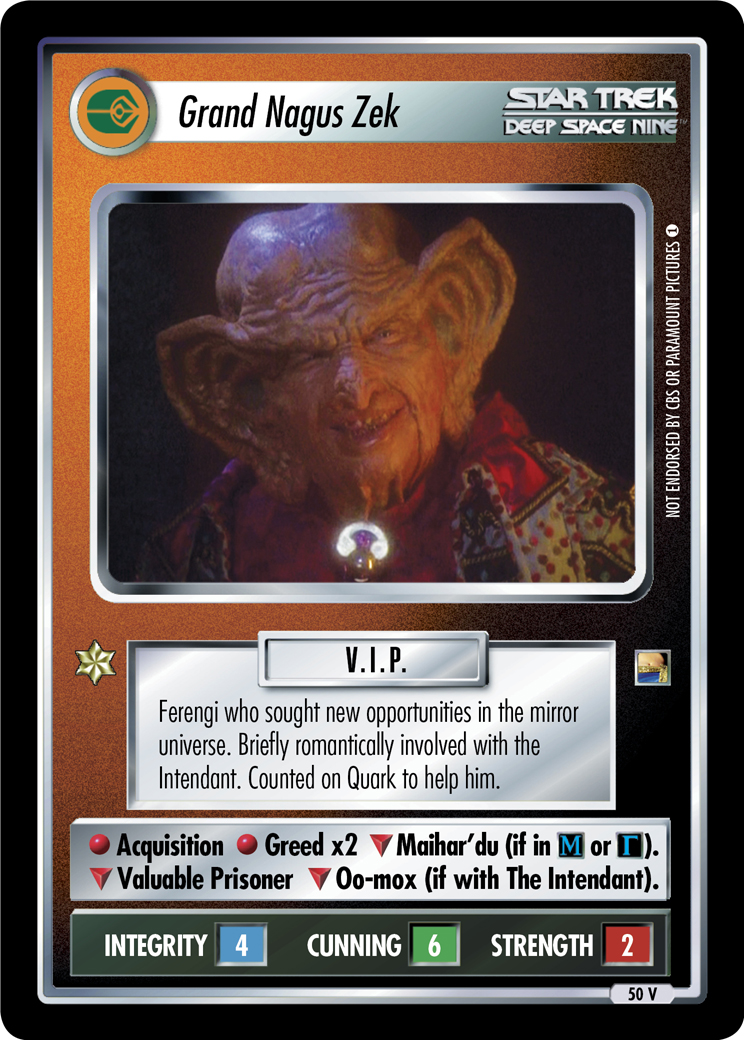 Grand Nagus Zek (Through the Looking Glass)