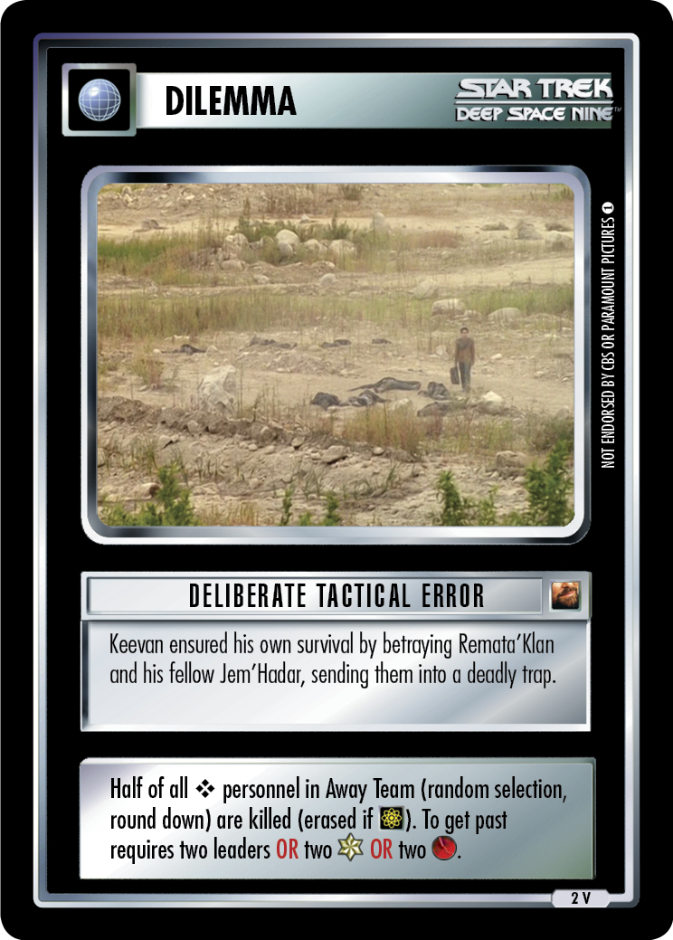 Deliberate Tactical Error