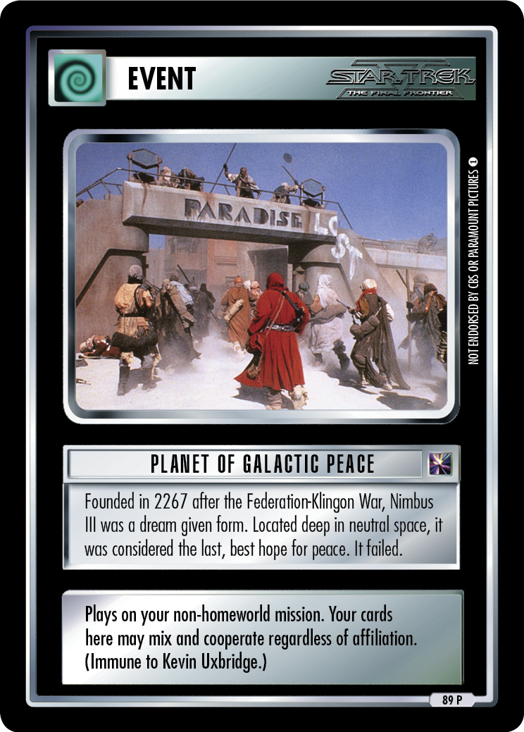 Planet of Galactic Peace