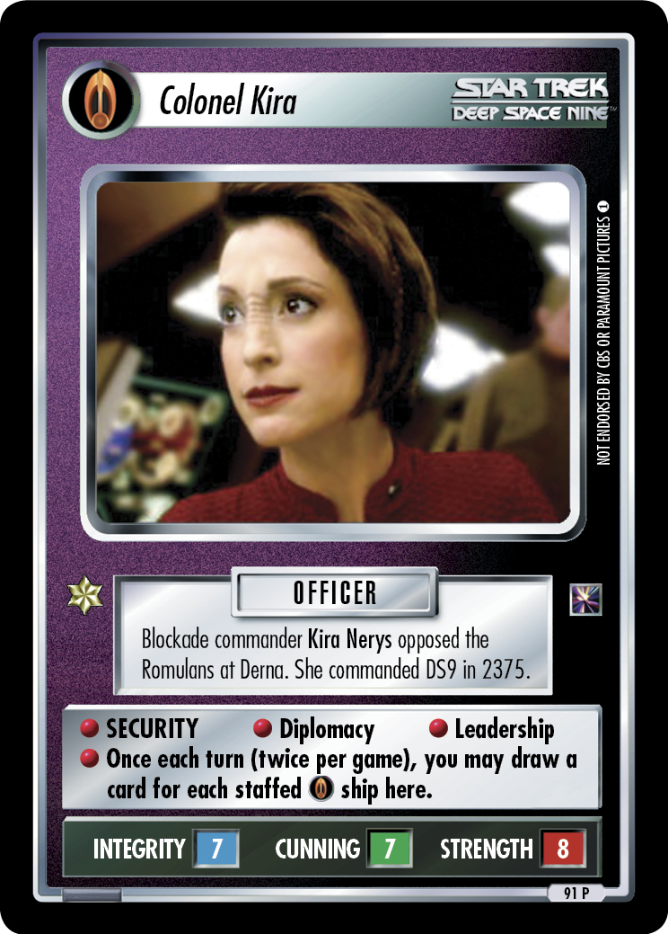 Colonel Kira (Warp Pack)