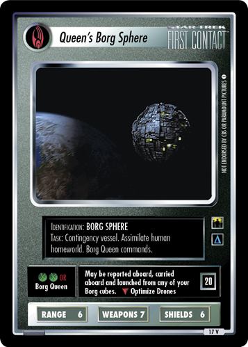 Queen's Borg Sphere (Resistance is Futile)