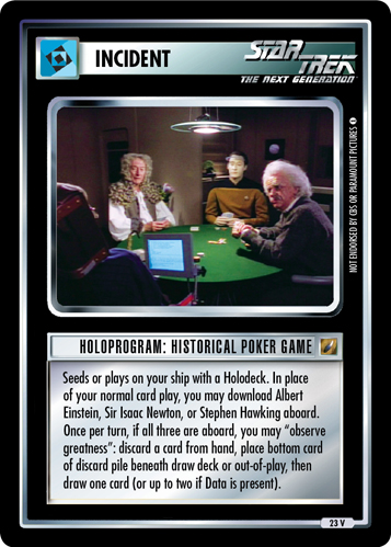 Huh, look at those sorry nerds wasting their time playing cards