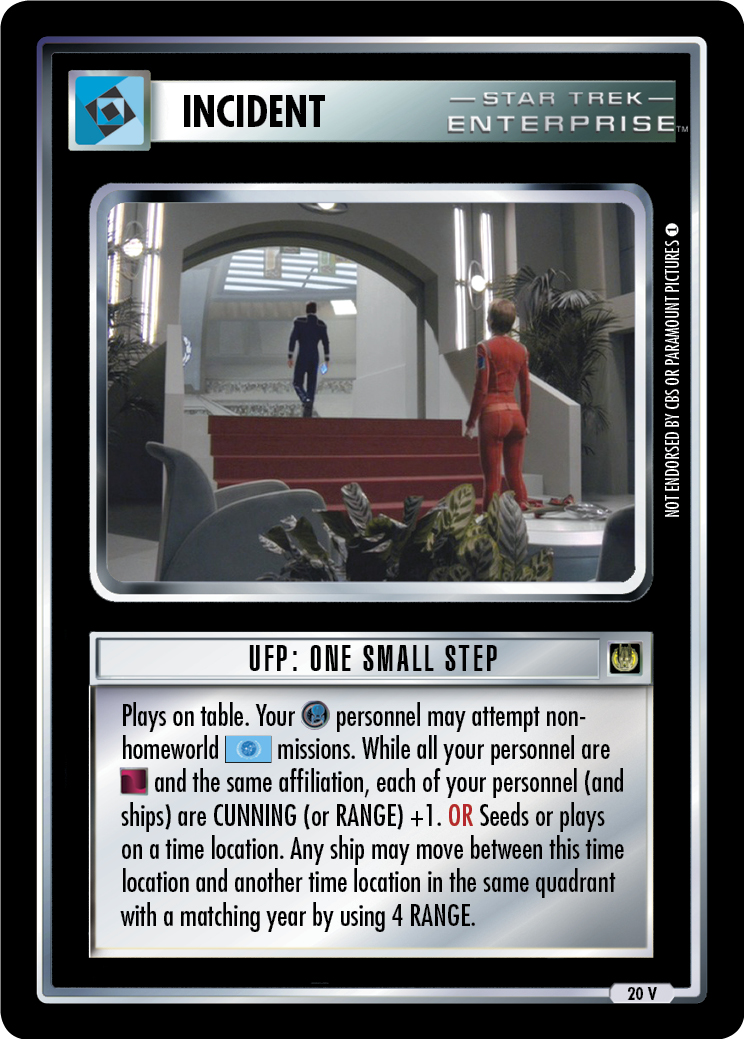 UFP: One Small Step