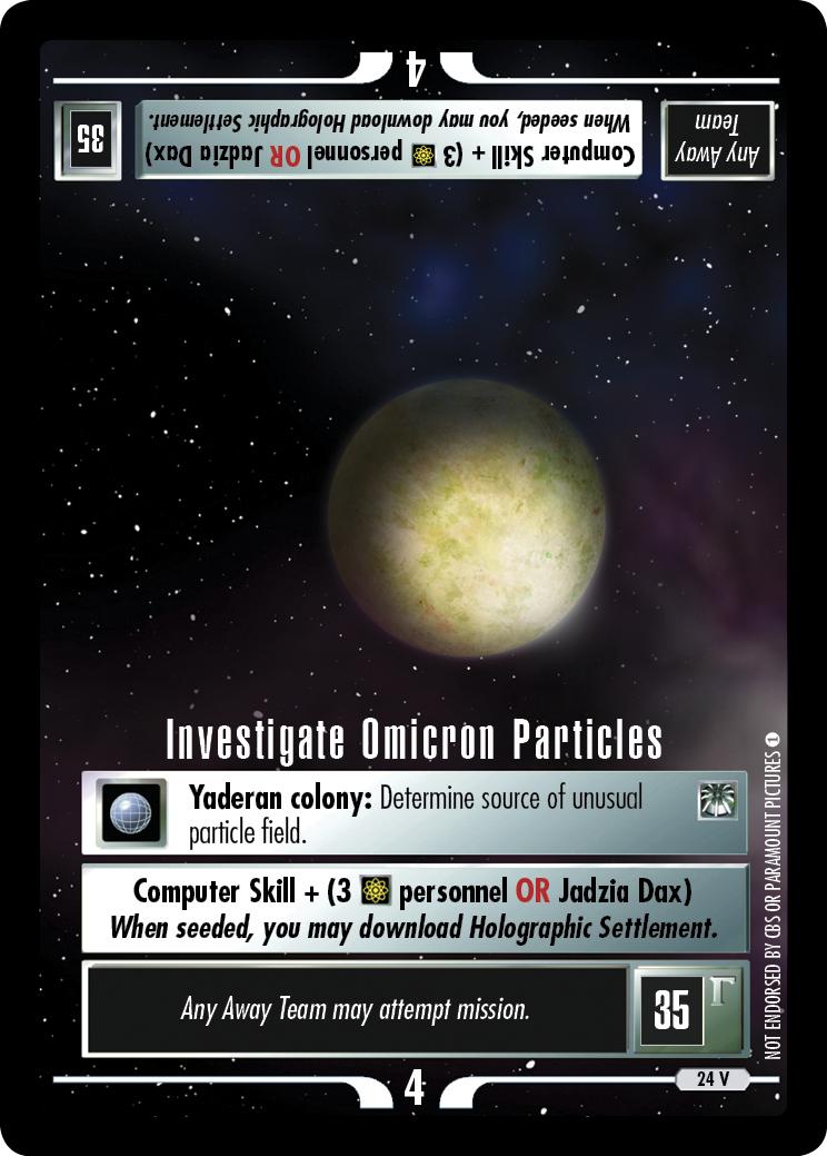 Investigate Omicron Particles