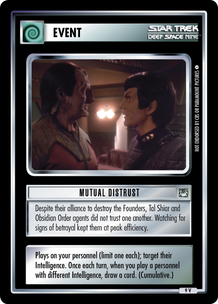 Mutual Distrust