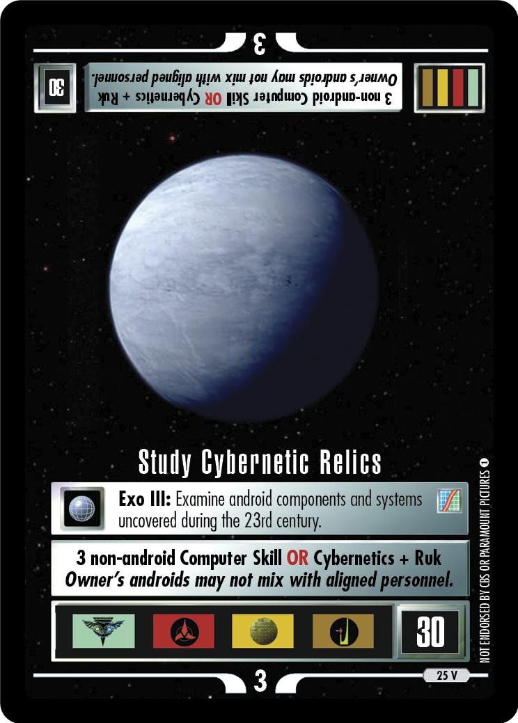 Study Cybernetic Relics