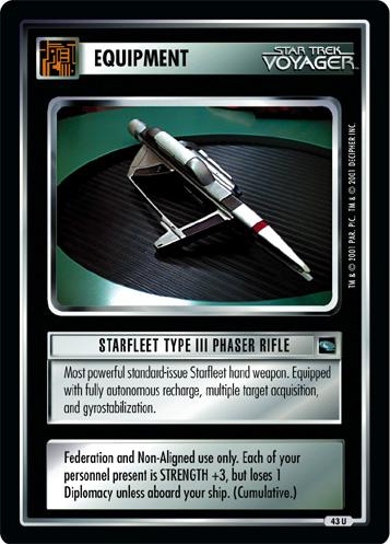 Starfleet Type III Phaser Rifle