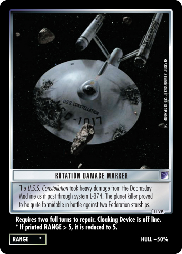 Rotation Damage Marker (The Original Series)