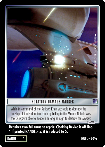 Rotation Damage Marker (The Wrath of Khan)