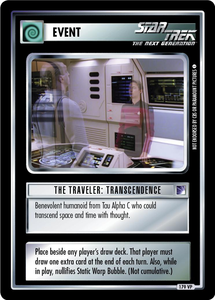The Traveler: Transcendence