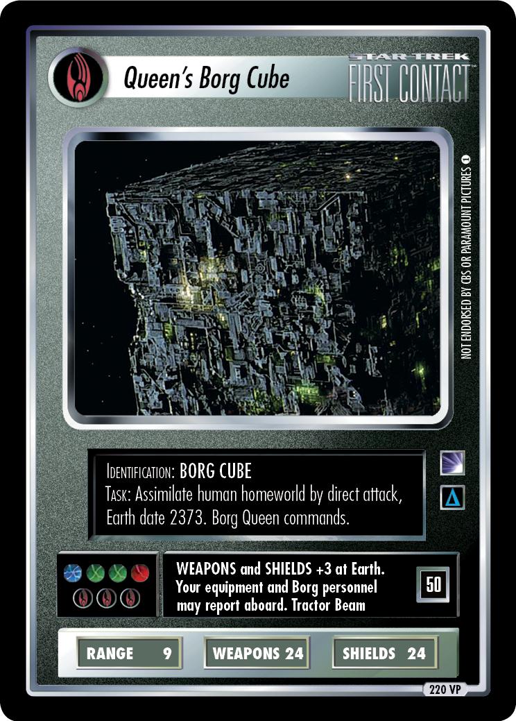 Queen's Borg Cube (2019 Trek Masters Series Promo)