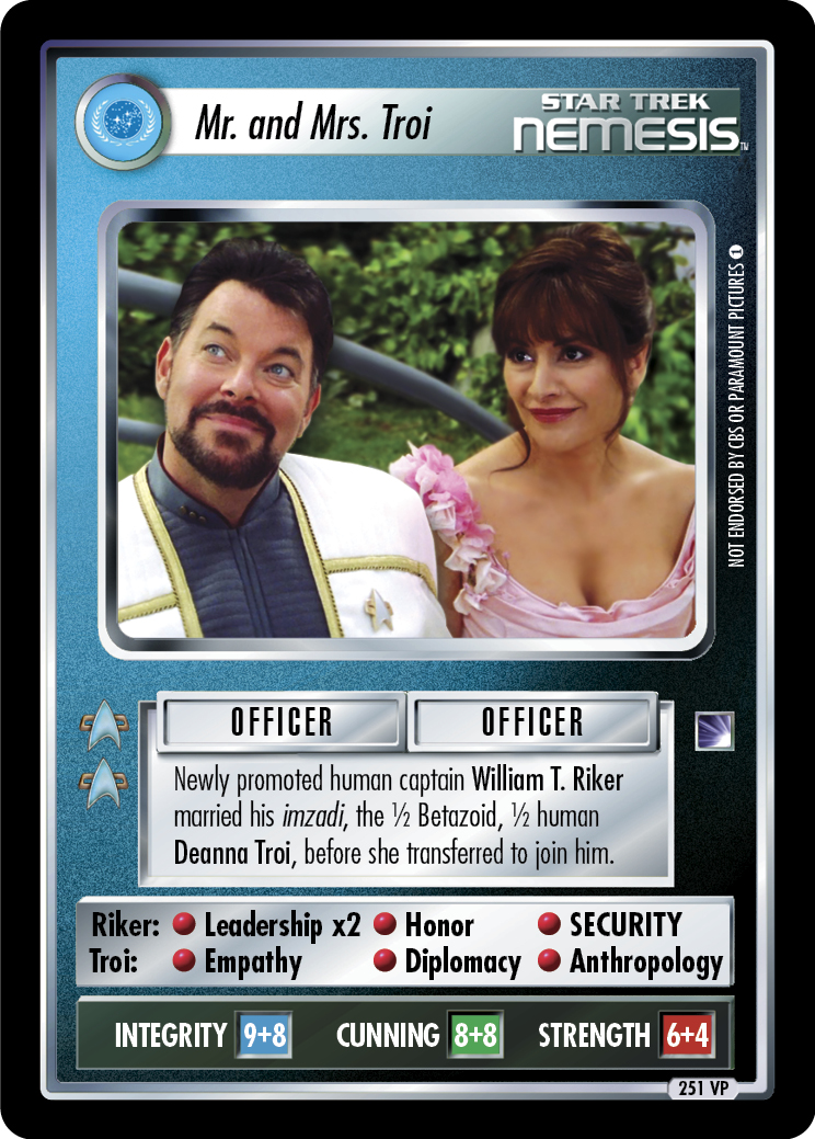 Mr. and Mrs. Troi