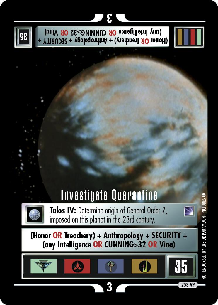 Investigate Quarantine
