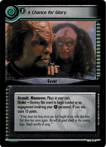 Reformist 4U176 Star Trek CCG 2E Necessary Evil Tamarith