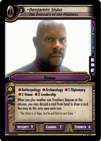 Benjamin Sisko (The Emissary of the Prophets)
