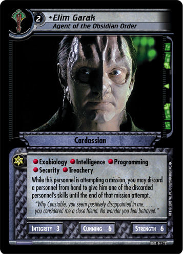 Elim Garak (Agent of the Obsidian Order)