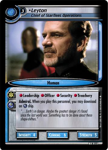 Leyton (Chief of Starfleet Operations)