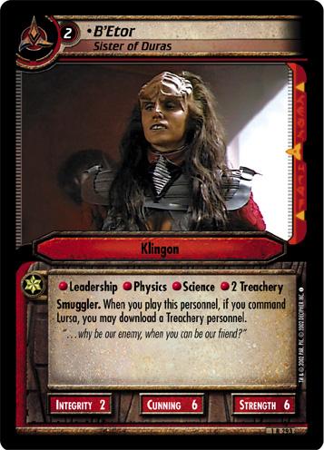 B'Etor (Sister of Duras)