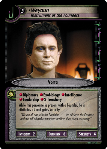 Weyoun (Instrument of the Founders)