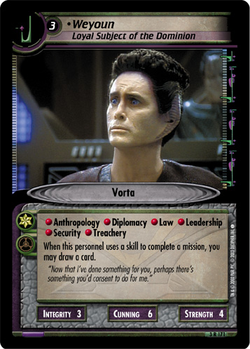 Weyoun (Loyal Subject of the Dominion)
