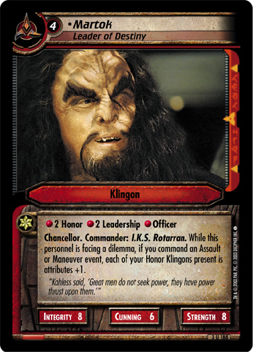 Martok (Leader of Destiny)