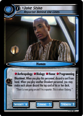 Jake Sisko (Reporter Behind the Lines)
