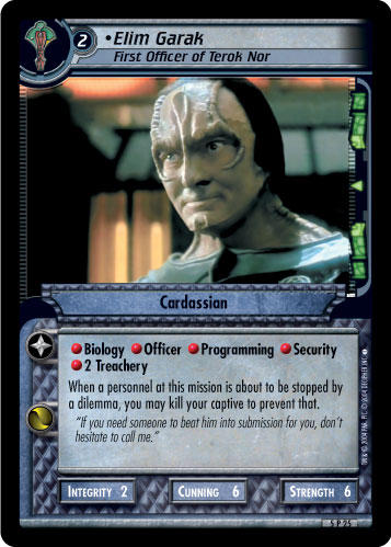 Elim Garak (First Officer of Terok Nor)