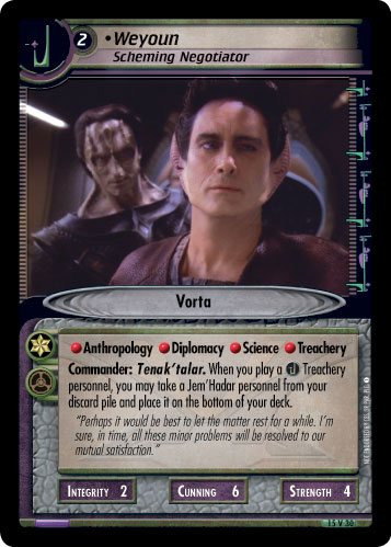Weyoun (Scheming Negotiator)