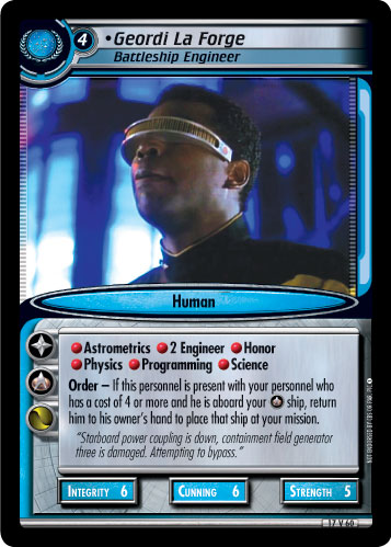 Geordi La Forge (Battleship Engineer)