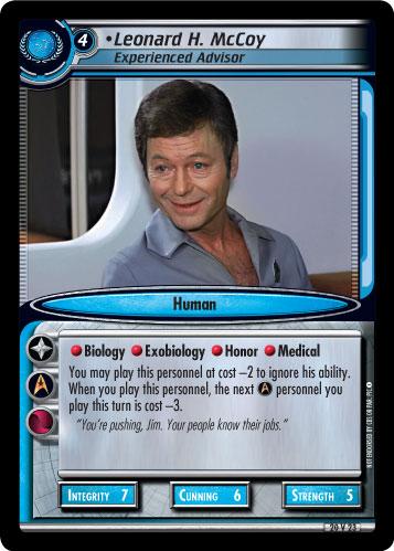 Leonard H. McCoy (Experienced Advisor)