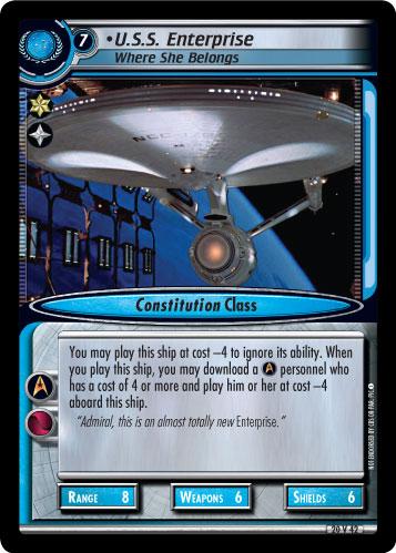 U.S.S. Enterprise (Where She Belongs)