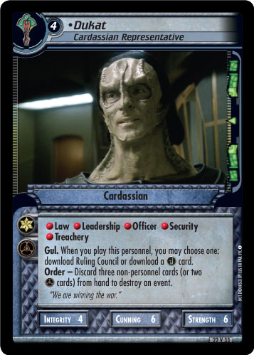 Dukat (Cardassian Representative)