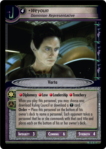 Weyoun (Dominion Representative)