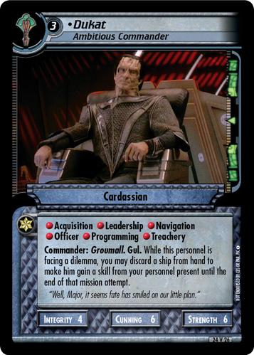 Dukat (Ambitious Commander)