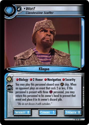 Worf (Clandestine Staffer)