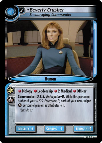 Beverly Crusher (Encouraging Commander)