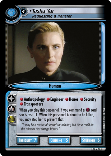 Tasha Yar (Requesting a Transfer)